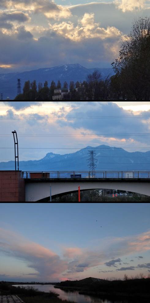 山は白かったです。