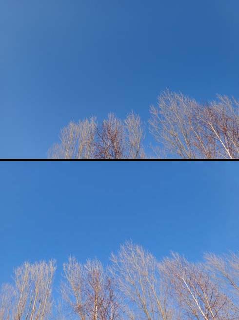 至高の青空。