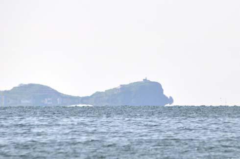 岬の先端が反り上がってるよーにみえます。