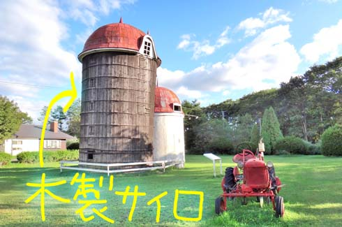 日本最古の木製サイロ