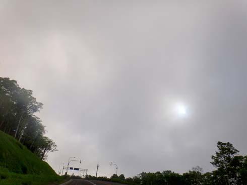 微妙な雲の濃度です。