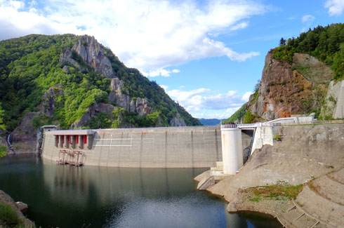 豊平峡ダムです。