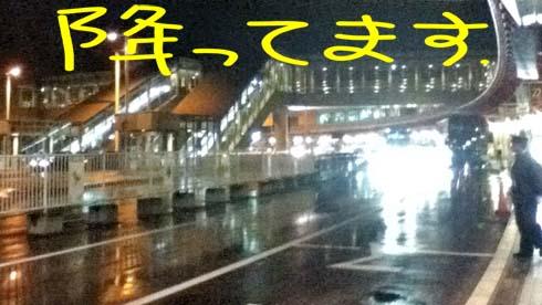 新千歳空港も冷たい雨が降ってました。